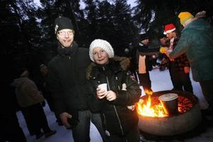 För Leif Mårtensson från Valbo, med dottern Evelina, ska det bli tradition att gå upp till Storflyn på julaftons morgon.