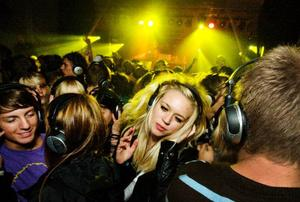 Åsa Larsson var en av dem som besökte invigningen av Silent Disco under trosdagen.