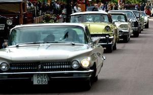 På fredag kväll blir det cruising i Borlänge. Nytt för i år är att prisutdelningarna blir i Folkets park. Där koras vinnare i tävling om tidsenlig klädsel och finaste 50-åring, alltså bil från år 1963. Foto: Tomas Nyberg