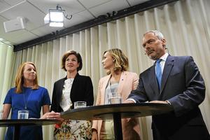 Under tisdagens presskonferens presenterade Alliansen sitt förslag om sänkta ingångslöner.