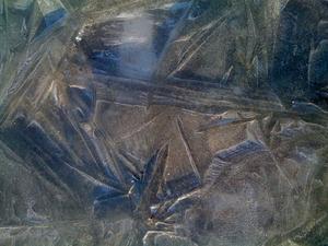 istället för snö är det isstjärnor på åkern i Oxnö