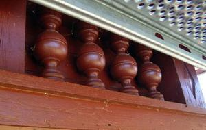 Det lades ner mycken möda på dekorationerna på de gamla kyrkopbyggnaderna.