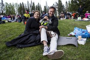 Sara och Anders Bretz från Stockholm med sonen Gunnar på nio månader