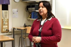Anneli Helgemo Gustavsson har hand om eleverna som läser ekonomiprogrammet och de som valt inriktningen juridik.