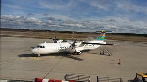 BRA:s nya ATR-flygplan som går mellan Visby och Östersund i sommar.