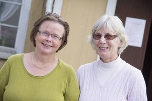 Inger Belfrage och Britt-Marie Sjöquist har arbetat med utställningen om emigranterna från Skog.