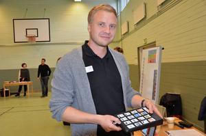 Jonnie Jonsson från Abilia förevisade olika tekniska hjälpmedel.