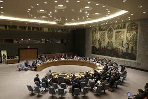 FN:s säkerhetsråd i sammanträde. Foto: Frank Franklin II/AP