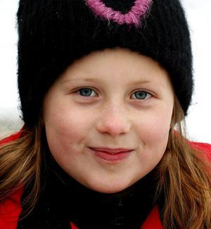 – Carolina Klüft för hon är så duktig i friidrott.Amanda Ruthström, 8, Nolby.
