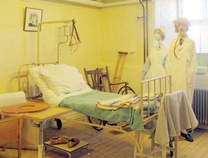 En gammaldags sjuksal finns bland sevärdheterna vid Medicinhistoriska museet i Falun där SPF Tuna-Säter gjort ett besök.