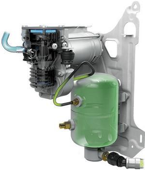 Den lilla kompressorn trycker in extra luft och höjer vridmoment med 30 procent under ett kort ögonblick.