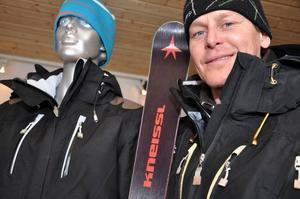 Från firad alpin stjärna med mängder av topplaceringar i världscupsammanhang satsar nu Fredrik Nyberg på en civil karriär där lansering och produktutveckling av skidprodukter är basen.  Foto: Hans-Råger Bergström