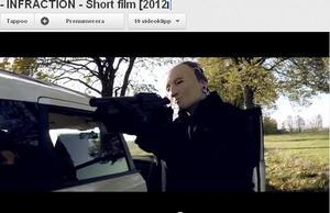 Scen från kortfilmen Infraction som är gjord av 19-årige örebroaren Simon Flack.