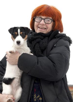 Ann-Marie Rubin med Kola.