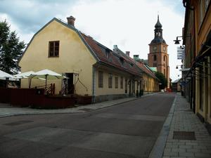 Hammars konditoribyggnad i Falun från 1760-talet murad i kalkbruk med inblandad kopparslagg.