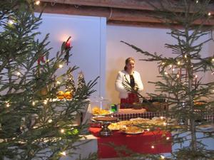 Ett riktigt mysigt ställe är kuskens café. Kakbuffé med hembakat. Liten presentbutik och fantastiskt trevliga rum med julstämning. Fin service, vad kan man mer önska?