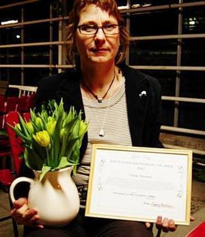 Prisad. Gittan Mattsson från Falun, uppvuxen i Ludvika, har tilldelats ett kvinnligt pedagogpris.