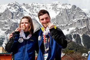 Lovisa Danielsson, från Frösön  och Felix Nilsson, från Offerdal,  tog båda guld i Österrike.
