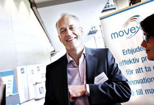 HOPPFULL. Anders Lundström, vd för Svenska Aerogel, är glad för att företaget nu har möjlighet att ta steget från forskning till tillverkning. 1 oktober flyttar de in i nya lokaler på Näringen.