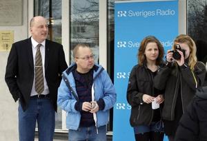 I förrgår höll kommunalrådet och kommunchefen presskonferens inför ett stort antal journalister. Uppståndelsen fortsatte i går med mängder av intervjuer.Lars Sjödin
