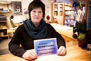 – Det känns kul att vi är först med det här i Sverige, säger Kicki Stenvall på Gäddede Turistbyrå.