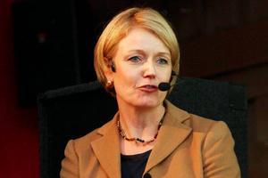 Elisabeth Thand Ringqvist vid företagardagen i Storhogna i oktober 2012.
