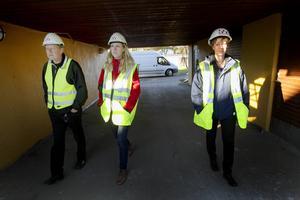 Marita Winestedt, projektsamordnare, Pär Skog, Projektledare och Jenny Glumoff, Kommunikstions- och Marknadschef på Sandvikenhus.