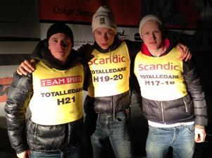 Gustav Eriksson, Oscar Ivars och Oskar Svensson ordnade en cuptrippel till Falun Borlänge i helgen.