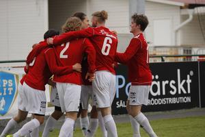 IFK-jubel efter Jonathan Lundbäcks 1–0-mål.