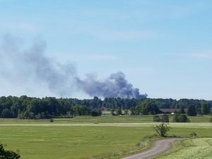 Branden syntes från Romfartuna.