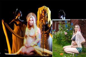Beyoncé och Brita Björs, superdivor som gärna visar gravidmagen på scenen.