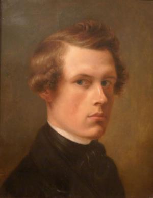 Hushållerskans son. August Jernberg kunde haft anledning att strypa Carl Magnus Norman. Självporträtt från 1845 (Länsmuseet Gävleborg).