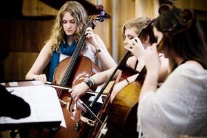 Cellogruppen öppnade årets vårkonsert med Vals 1.