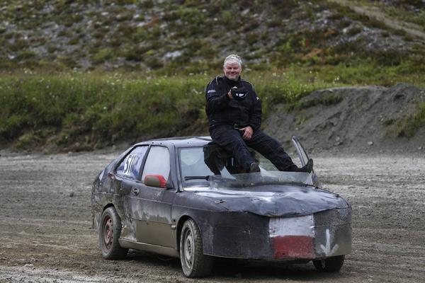 Morgan Persson, Ånge MK vann herrarnas A-final med sin Saab.