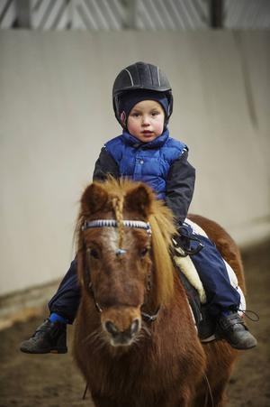 Lukas var en av träningens yngsta deltagare.