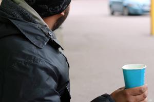 Tiggare eller EU-migrant i Falun som inte har något boende utan bor i en bil.