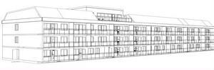 En skiss över hur huset på Öjollasbacken kan komma att se ut när det är färdigt och återuppbyggt.