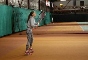 Lisa Lundström har också hon som mål att bli proffs och ser inte sig själv tröttna på tennis inom någon snar framtid.
