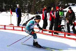 Guldgrabb. Tobias Arwidson, Lima, följde upp sina guld från tidigare i veckan med att även vinna den avslutande masstarten i Sollefteå.