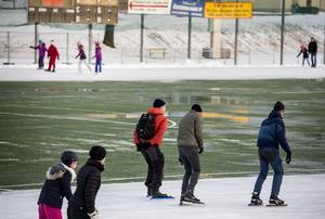 Allmänhetens åkning gör Östermalms IP välbesökt på vintrarna.