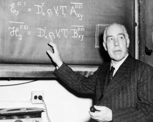 Dansken Niels Bohr, en av flera som var inblandade i klarläggandet av kärnklyvningens process.