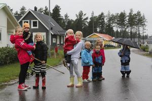 Bara på det nybyggda området på Malhedsvägen bor det nyinflyttade familjer med runt 40 barn. Utan busstrafik körs bilar ständigt fram och tillbaka, till och från skolan och olika aktiviteter.