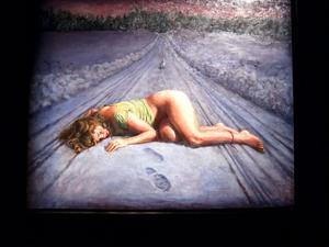 Anders Stimmers klassiskt utförda målningar är fyllda av symbolik och mörka undertoner.