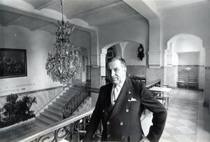 25 augusti 1977. Portier Thure Holmström på Stadshotellet.