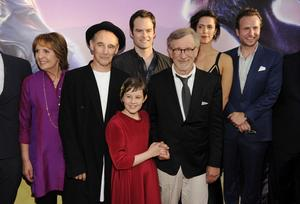 Steven Spielberg, third from right, director/co-producer of