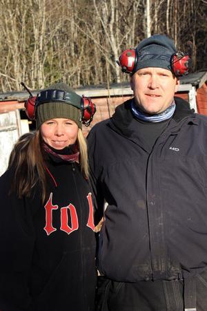 Jenny och Håkan Djurmark flyttade till Sälen för skoteråkningen.