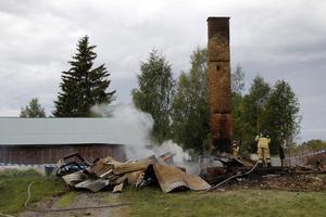 Räddningstjänsten har i dag, fredag, eftersläckt branden.