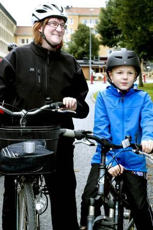 Familjeutflykt. Familjen Falk är välrutinerade cyklister som inte trodde att 20 kilometer skulle bli någon konst att klara av.