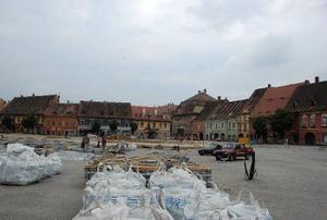 Stora torget i Sibiu - Hermannstadt, Europas kulturhuvudstad 2007.