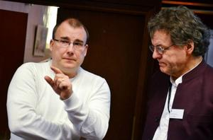Utredningen kring kulturens behov av lokaler har letts av Bengt Gryckdal (t.v.).